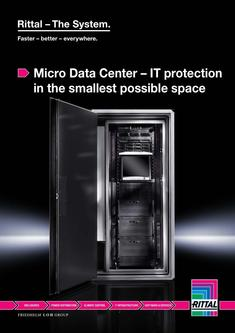 Micro Data Center – IT protection in the smallest possible space 2017