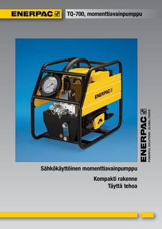 TQ-700E, Lightweight Electric Torque Wrench Pump 2012 (Finnish)
