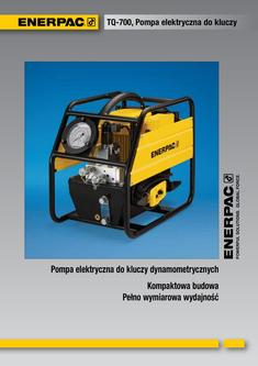 TQ-700E, Lightweight Electric Torque Wrench Pump 2012 (Polish)