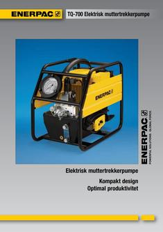 TQ-700E, Lightweight Electric Torque Wrench Pump 2012 (Norwegian)