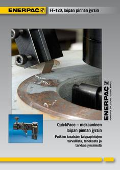 FF-Series, Mechanical Flange Face Tool 2012 (Finnish)