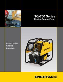 TQ-700, Lightweight Electric Torque Wrench Pump 2013