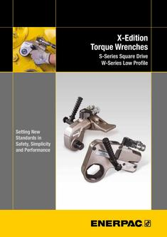 S- & W-Series X-Edition, Hydraulic Torque Wrenches (Technical) 2015 (GB)