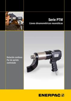 PTW-Series, Pneumatic Torque Wrenches (Technical) 2015 (Spanish ES)