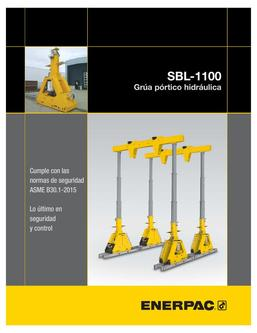SBL-1100 Hydraulic Gantry 2015 (Spanish)