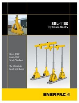 SBL-1100 Hydraulic Gantry 2015 (US)