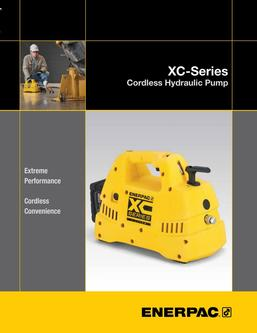 XC-Series, Cordless Hydraulic Pump 2016 (US)
