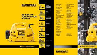 XC-Series, Cordless Hydraulic Pump Commercial Brochure 2016 (Finnish)