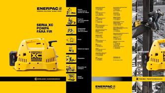 XC-Series, Cordless Hydraulic Pump Commercial Brochure 2016 (Romanian)