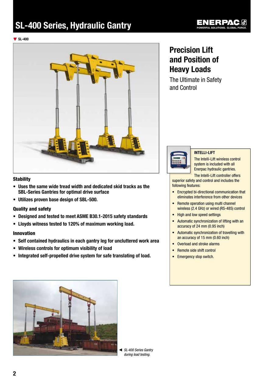 SL-400 Hydraulic Gantry 2014 (GB) by ENERPAC