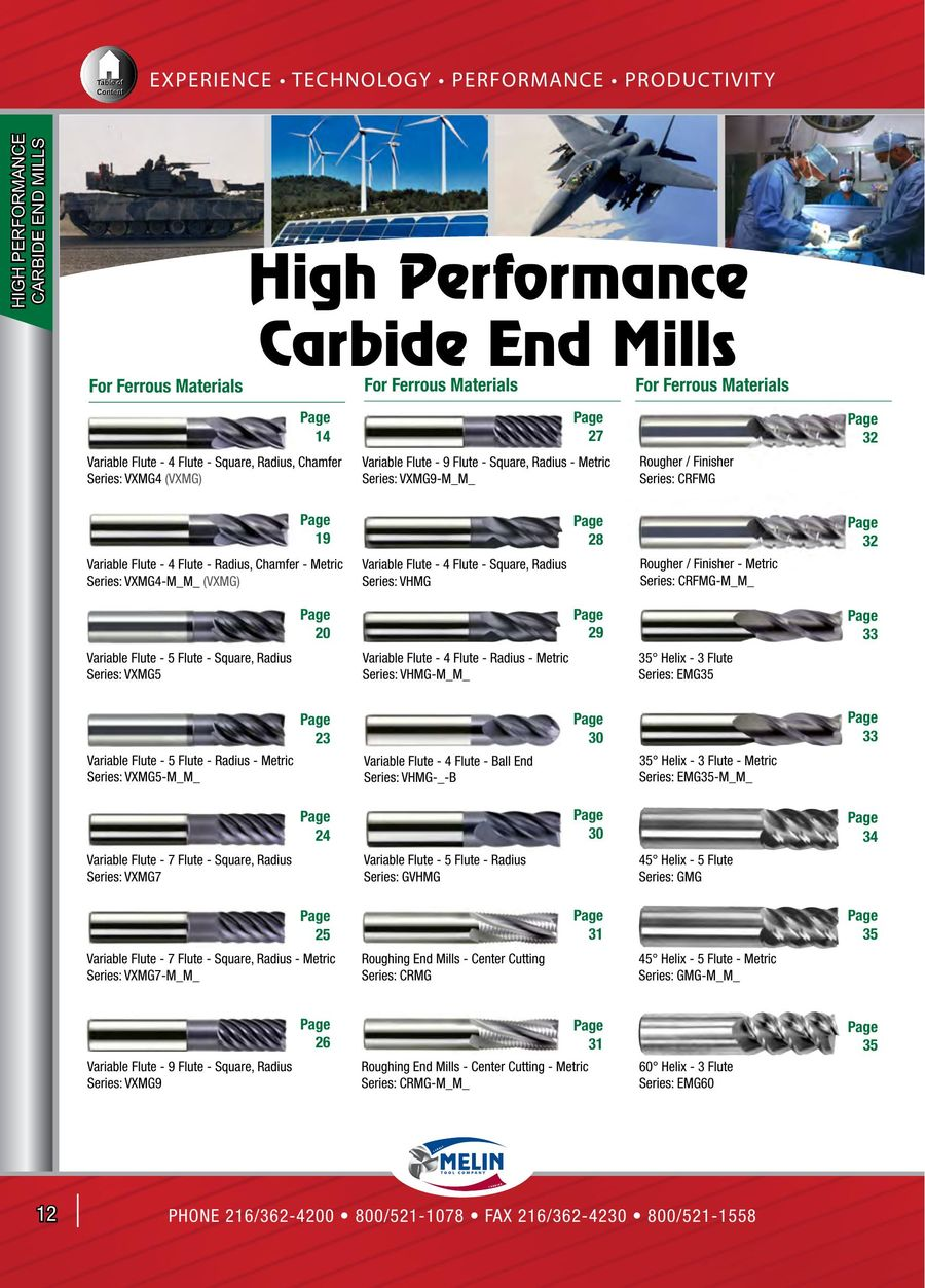 "1//2/"" 4 Flute VXMG Variable Helix nACo Carbide End Mill Melin USA 15817"