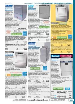 Dishwashing Equipment & Supplies 2016