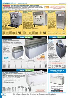 Ice Cream Equipment & Supplies 2016