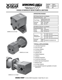 Series GP Hyd. Pumps/Motors 2016