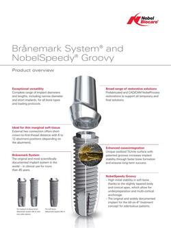 Brånemark System and NobelSpeedy Groovy product overview 2016