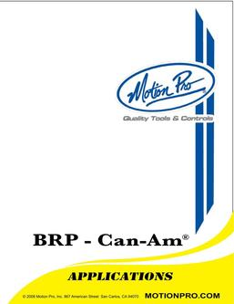 BRP-CanAm Applications 2013