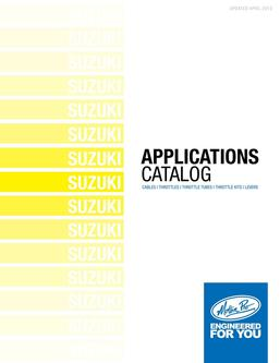Suzuki Applications 2013