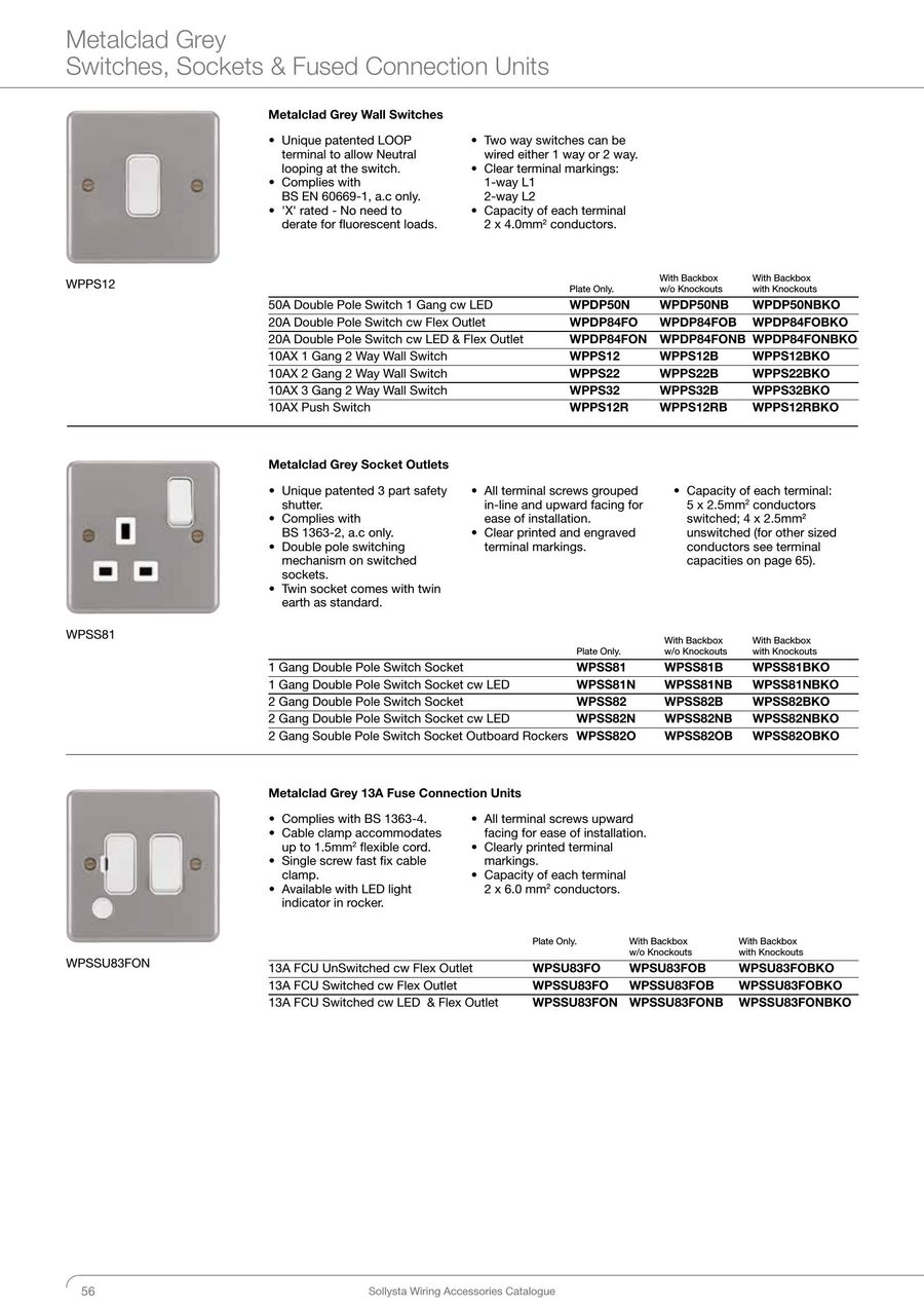 Page 56 Of Sollysta Catalogue 2016 3 Way Switch Double Pole P 68