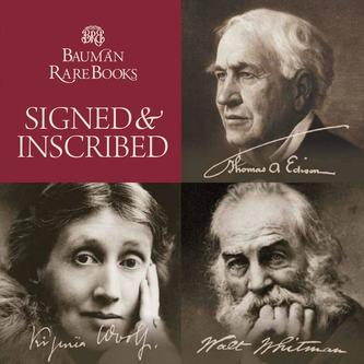 Rare books and documents signed or inscribed August 2015