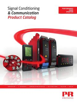 Signal Conditioning & Communication 2016 Product Catalog