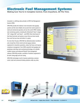 2016 Electronic Fuel Management Systems