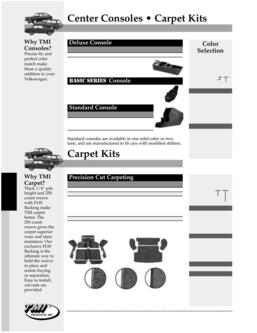 Volkswagen Type III Carpet Kits 2016
