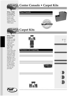 Volkswagen Bus Carpet Kits 2016