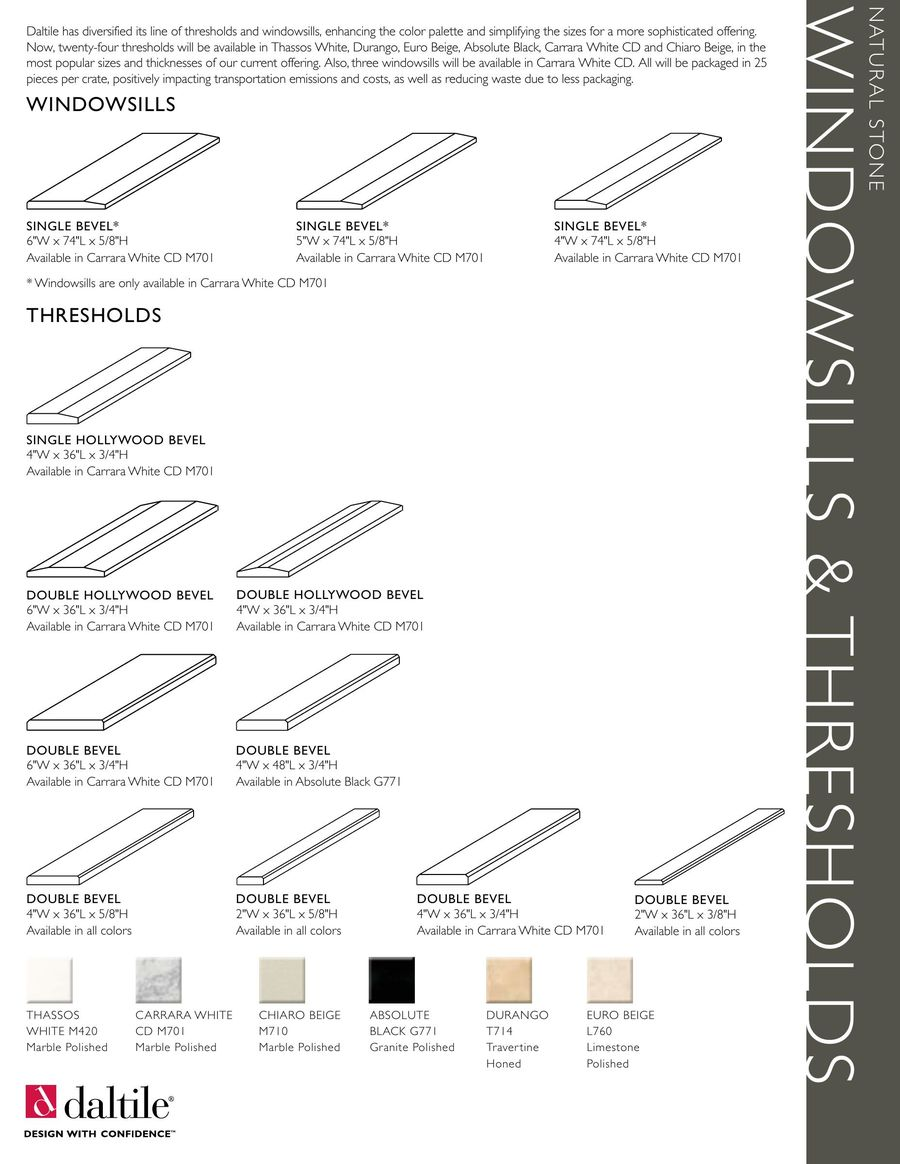 Windowsills Thresholds By Daltile - Daltile marble threshold
