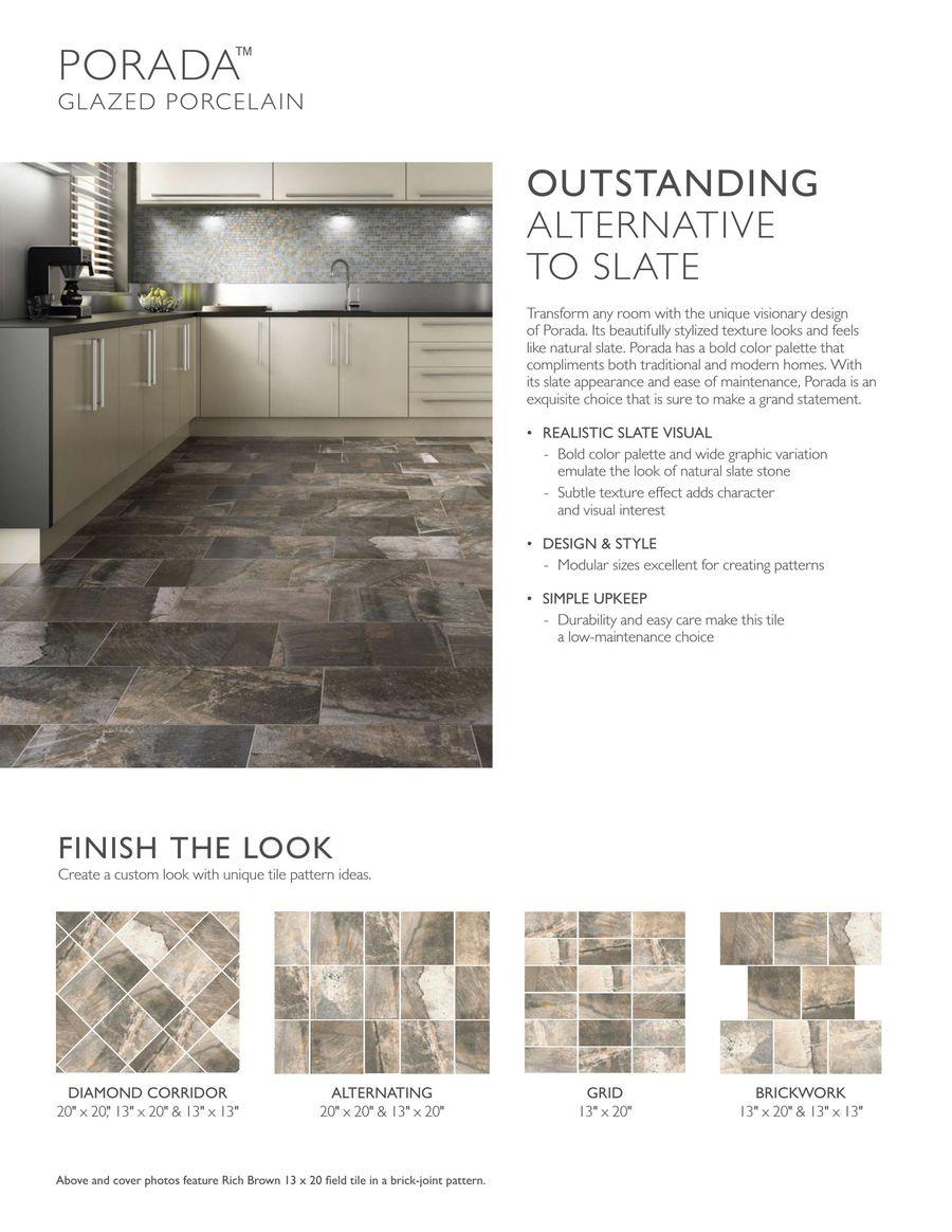 Porada By Daltile - 20 x 20 floor tile patterns