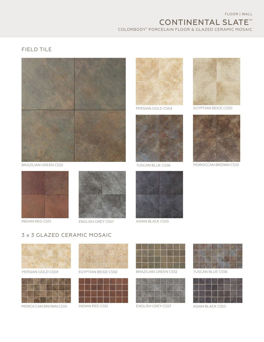 Continental Slate 2016 By Daltile