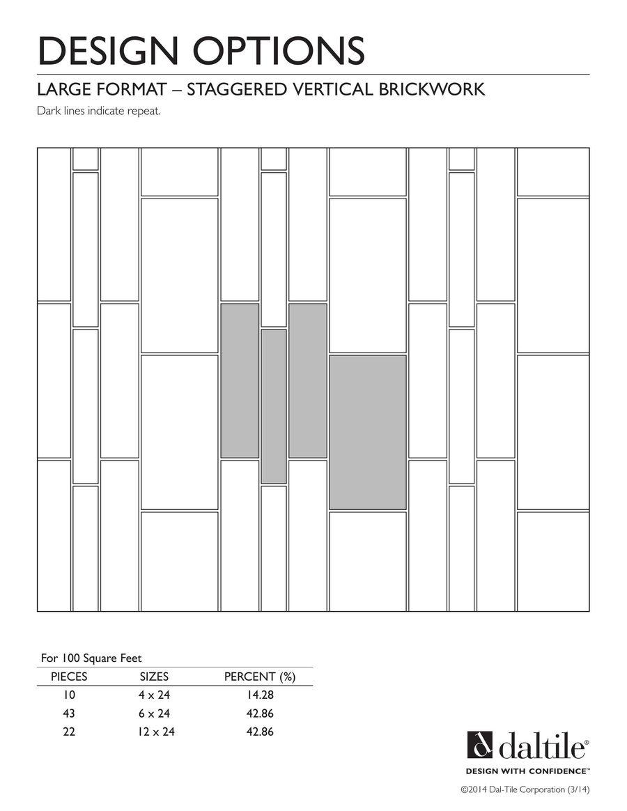 Large Format Tile Pattern Designs 2016 by Daltile