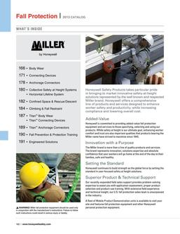Miller Fall Protection products 2016