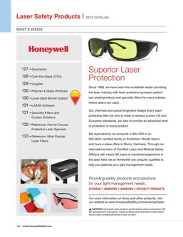 Laser eyewear, barriers, windows & specialty products 2016