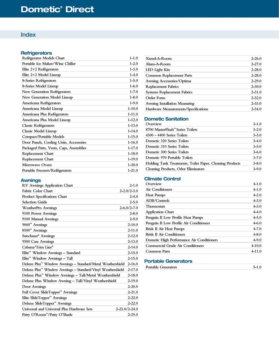 US RV Products 2014 by Dometic