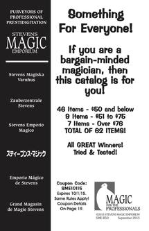 Magic Accessories and Supplies Sept/October Catalog 2015