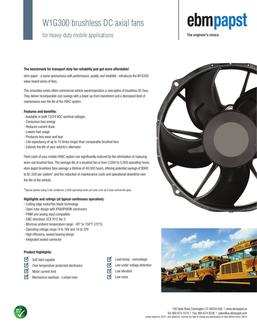 W1G300 Brushless DC axial fans