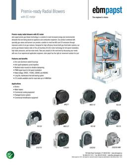Premix-ready radial blowers with EC motor
