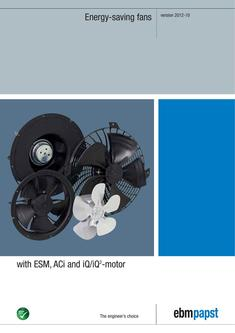 Energy-saving fans with ESM and iQ-motor 10/2012