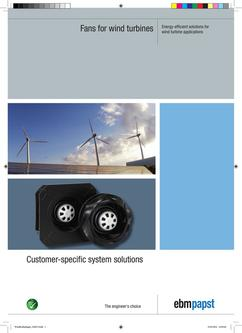 Fans for wind turbines: Energy-efficient solutions for wind turbine applications