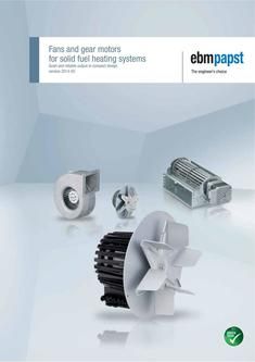 Fans and gear motors for solid fuel heating systems (version 2014-05)