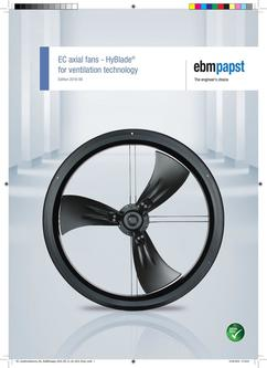 EC axial fans - HyBlade® for ventilation technology 2016-06