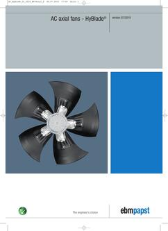AC axial fans - HyBlade® (version 2010-07)