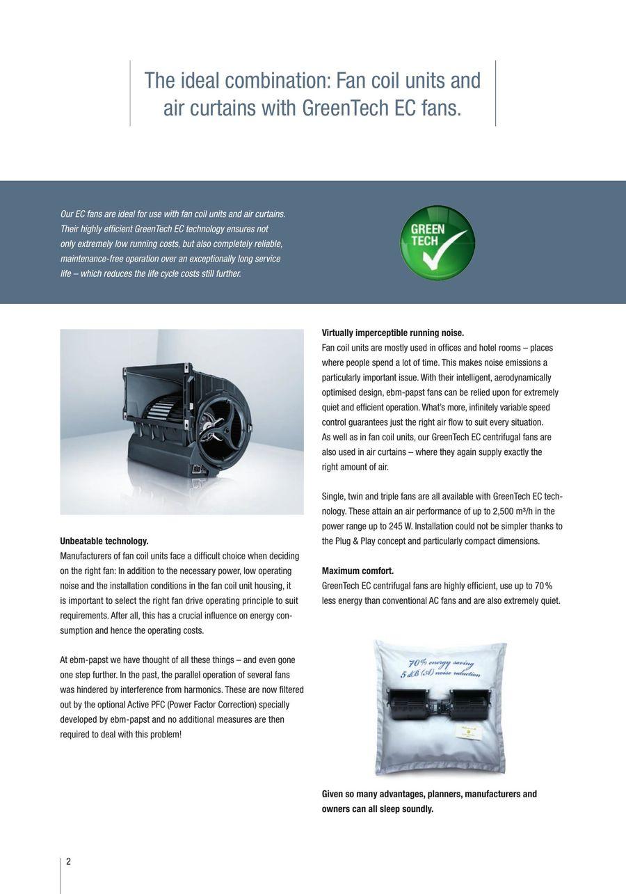 GreenTech EC centrifugal fans by ebm-papst