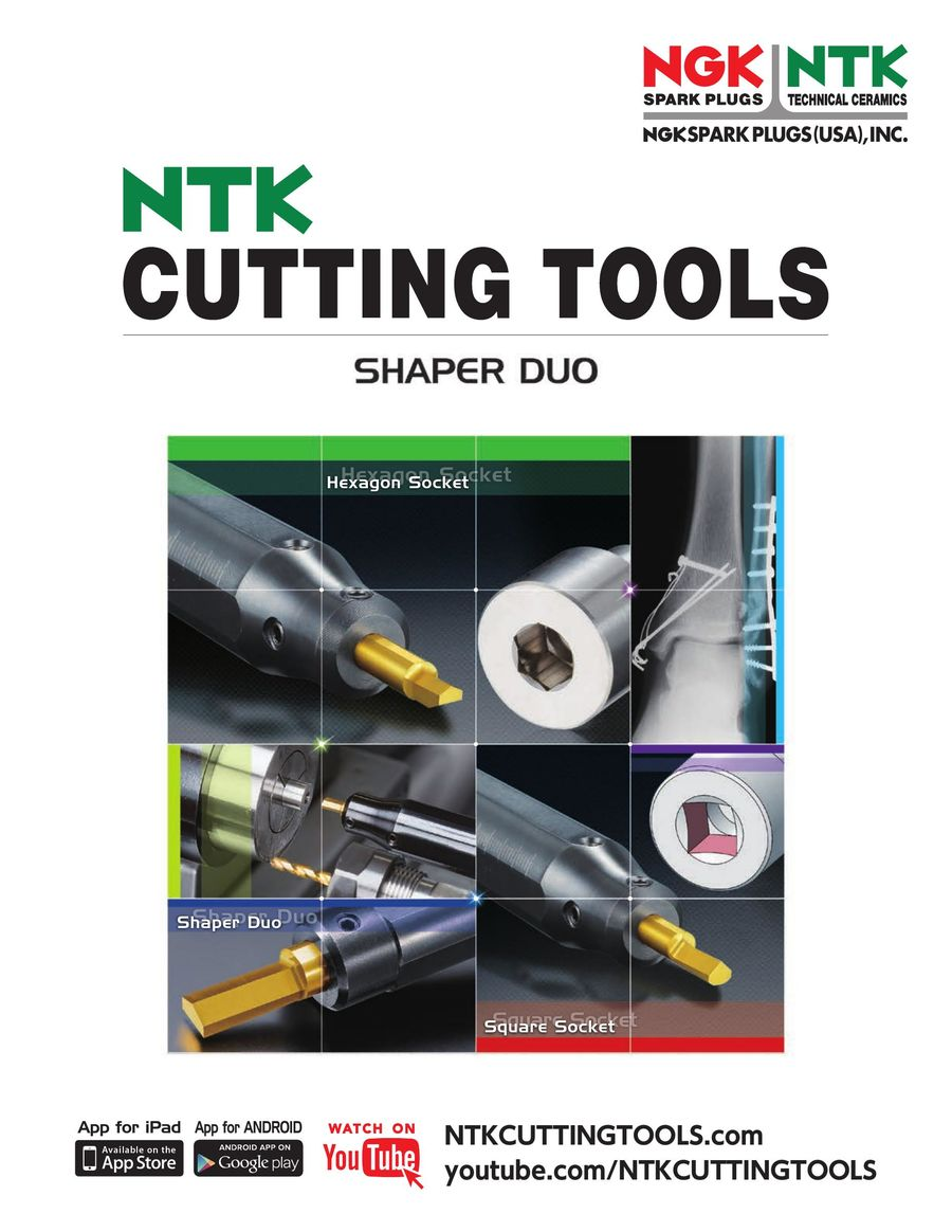 Shaper Duo Cutting Tools 12/2014 by NTK Cutting Tools USA