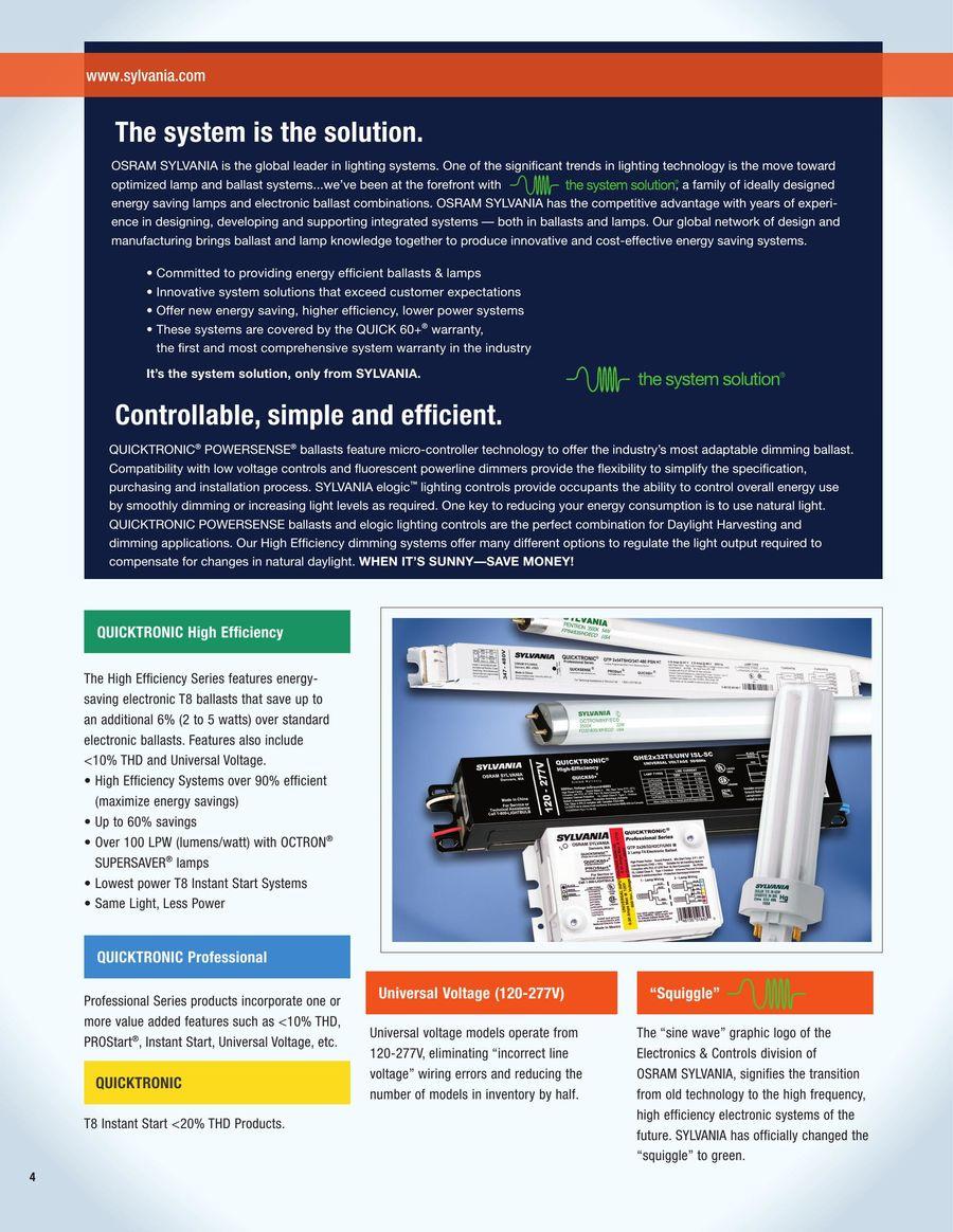 Energy savings ballast cross reference - P 1 256