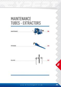 Maintenance tubes extractors Tools 2015