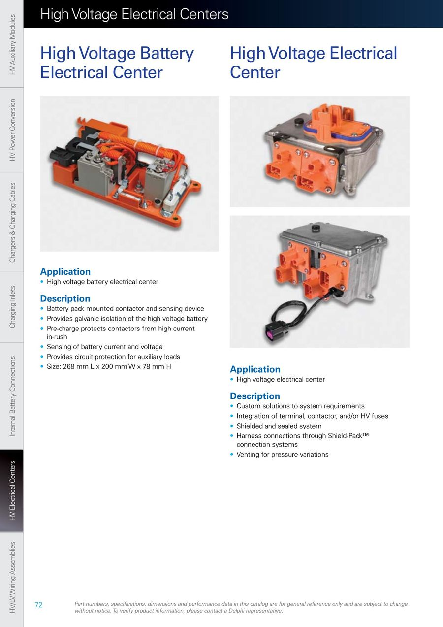 Page 72 of Hybrid and Electric Vehicle Connection Systems 2014