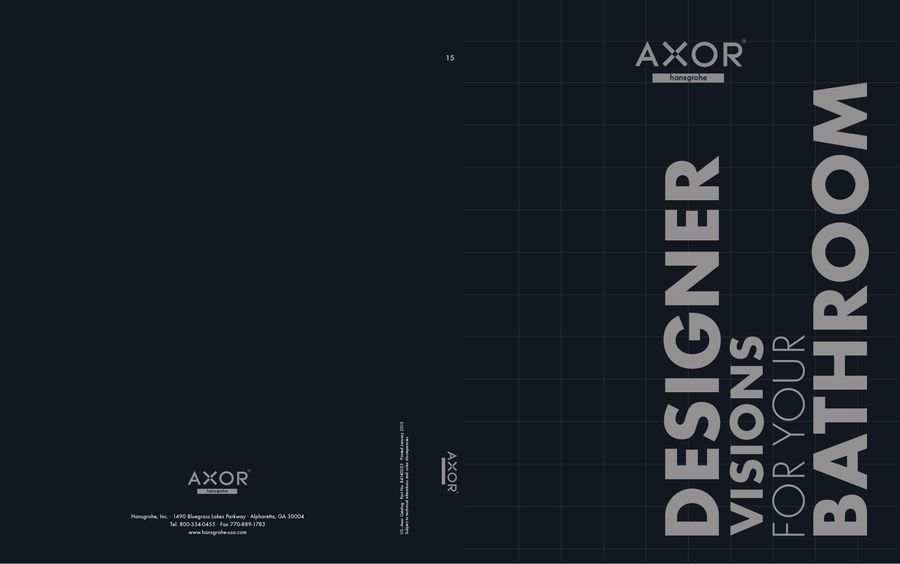 Axor Catalog 2015 by Hansgrohe USA