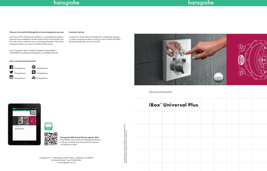 iBox Universal Plus 2014 by Hansgrohe USA