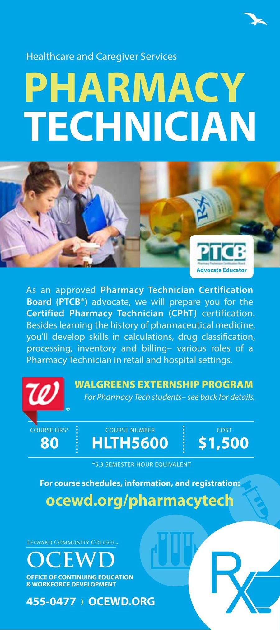 Certified Pharmacy Technician Cpht 2016 By Leeward Community College